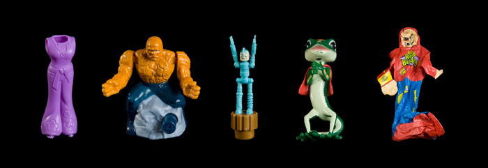 Action Figures, 10 x30 inches, 2009